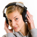 Woman Listening with Headphones