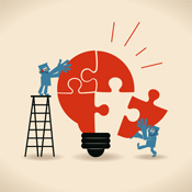 Idea Puzzle Builders Illustration