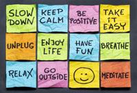 Sticky note advice graphic