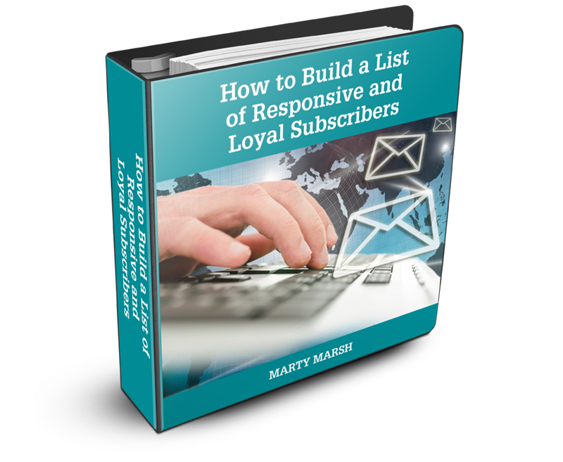 Graphic Image of 3D cover for How to Build a List of Responsive and Loyal Subscribers