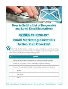 LoyalSub-Checklist